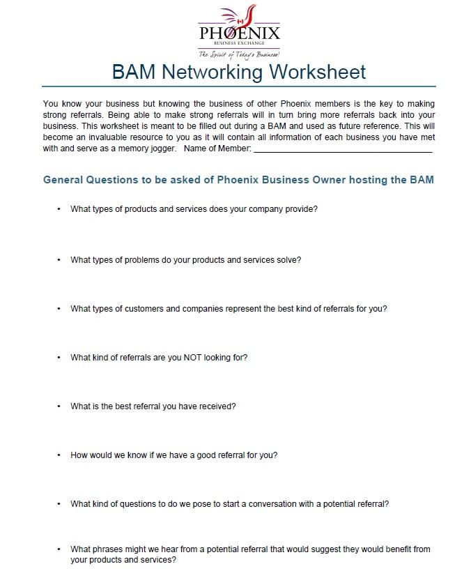 BAM Worksheet